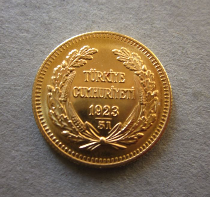 Turkey - 50 kurush 1923/40 'Atatürk' - Gold