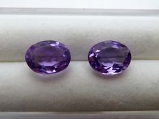 Pair of amethysts - 3.87 ct no reserve price
