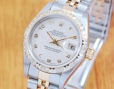 Rolex 18K Gold & S/S Diamonds DateJust Women's Watch!