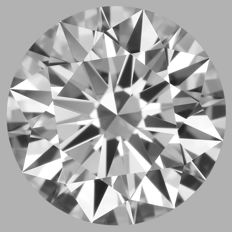 Round Brilliant  1.51 ct FIF GIA #127 Low Reserve -EX/EX/EX-Ideal cut