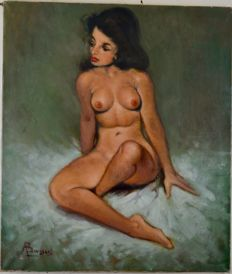 Brussee (20th century) - Naked young woman