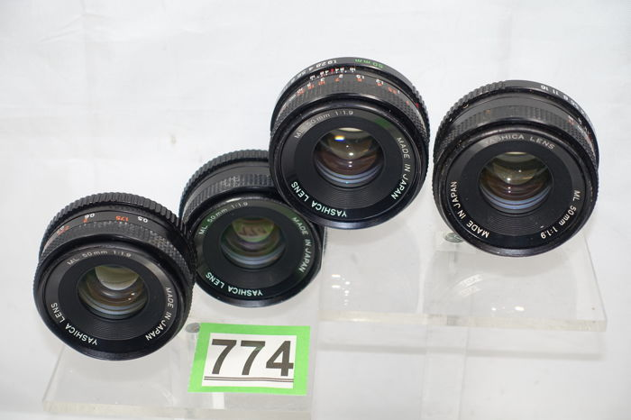 4x Yashica 1:1 9 50mm lenses - Catawiki