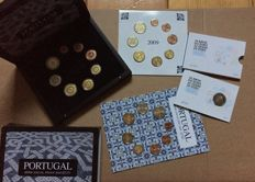 Portugal - Year set 2010 + Year set 2009 (2 pieces) + 2 Euros 2012 in blister