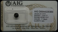 0.98ct. Certified Natural Fancy Black Diamond  - NO RESERVE