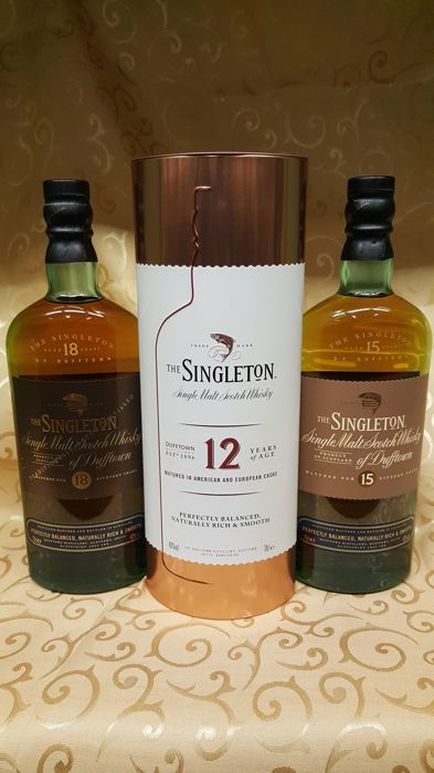 3 bottles - The Singleton of Dufftown - 12 / 15 / 18 years old
