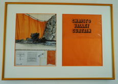 Christo - Valley Curtain, Signed