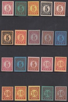The Netherlands 1870 - Postage due Large numeral of value - 20 essais