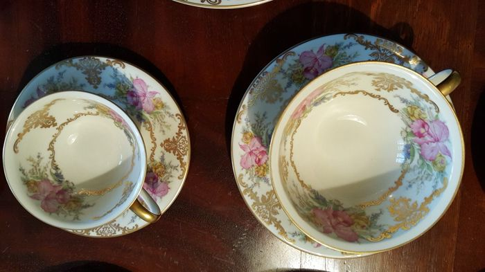 Rosenthal Winifred Coffee and tea set with dessert plates in orchid design & Rosenthal Winifred Coffee and tea set with dessert plates in ...