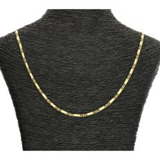 14 kt - Yellow gold curb link necklace - Length: 45 cm - NO RESERVE