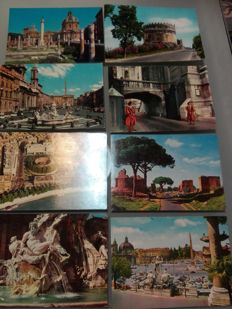 Rome - Italy - 1960s/80s - 290 colour and black and white postcards