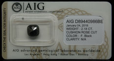 2.18ct. Certified Natural Fancy Black Diamond  - NO RESERVE