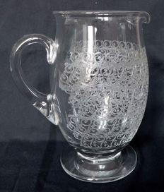 Baccarat - Pitcher / jug / water carafe in Crystal cut, Rohan Gouvieux  model, France, prior to 1936