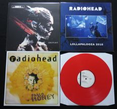 Radiohead - Great lot of 3LP's, including 1x coloured vinyl!