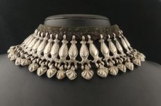 Antique necklace in high-grade silver - Afghanistan, early 20th century