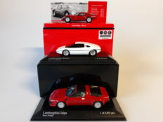 Minichamps - Scale 1/43 - Lot with 3 Italian models: 1 x Alfa Romeo & 2 x Lamborghini