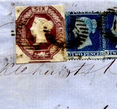 Great Britain 1854 - 6d Embossed, Double Impression on cover - Stanley Gibbons.58var