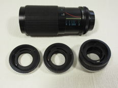 Tokina for Canon 1:4/80 to 200 mm and set of extension rings
