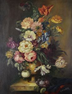 Floro de Bark. (20th century-) Still life of flowers