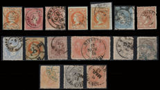 Spain 1856–1936 - Lot of 32 pieces and 16 stamps of the postal history of Lugo
