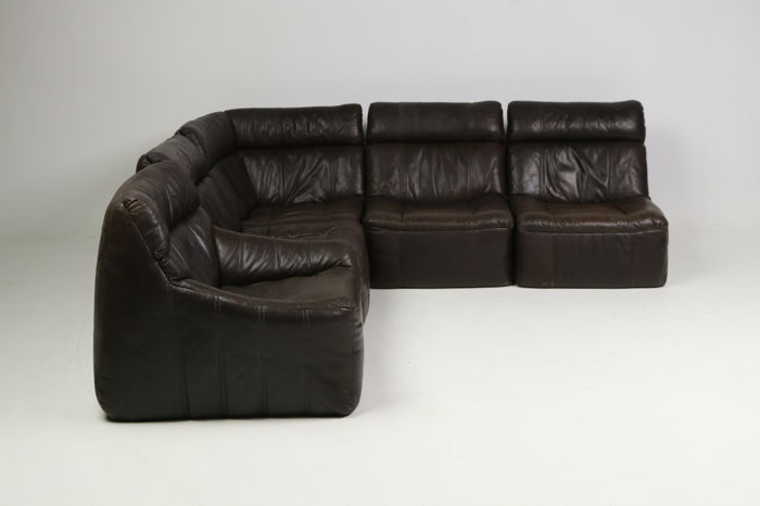 Rolf Benz Bank Vintage.Rolf Benz Modular Sofa In Brown Leather Catawiki