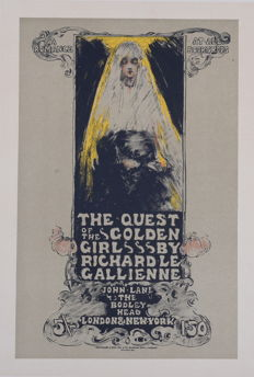 Ethel Reed - Quest of the Golden Girl - Original lithograph poster from the 'Les Maitres de L'affiche' series