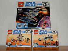 Star Wars - 8014 + 8015 + 8016  - Clone Walker Battle Pack + Assassin Droids Battle Pack + Hyena Droid Bomber