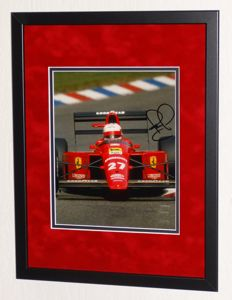 Nigel Mansell original signed Photo - Premium Framed + Certificate of Authenticity