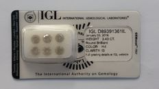 3.43ct 6 Diamonds Rounds Fancy H-I I3 IGL -No Reserve