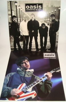 "Oasis: 2 Rare Live LP Albums:  ""Acoustic Glory"" + "" England's Dreaming"" (Live at the Glastonbury festival, June 23rd, 1995) White Color Vinyl"
