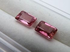 Pair of rubellite tourmalines -1.89 ct - *No reserve price*