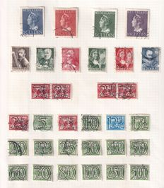 The Netherlands 1940/1946 - Collections years of war - NVPH 346/373