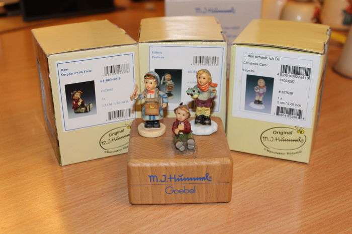 Rodenthal - 3 Miniature Hummel Figurines in the Original Boxes, like New