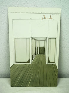 Christo - Corridor Store Front, double-sided Offset, 3D-effect, signed