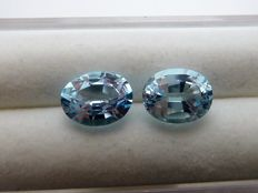 Pair of topazes - 4.51 ct - no reserve