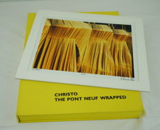 Christo - Pont Neuf wrapped. With signed original photograph - 1993
