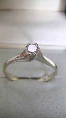 Diamond ring 585 gold 0.25 ct brilliant - hallmarked, no reserve price
