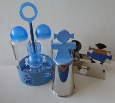 """King-Kong (Stefano Giovannoni and Guido Venturini) for Alessi - lot with three different items from the """"Girotondo"""" series"""