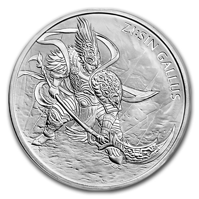 South Korea - 1 clay 2017, 'Gallus ZI.SIN first edition' - 1 oz of silver