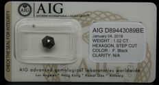 1.02ct. Certified Natural Fancy Black Diamond  - NO RESERVE