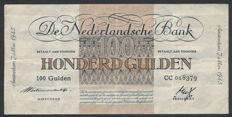 Netherlands - 100 Guilders 1945 - Currency reform - NVMH 119-1a