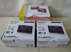 2x Panasonic Lumix SZ10 and 1x Praktica Luxmedia 12-Z4