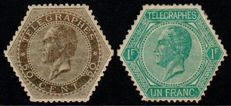 Belgium - Telegraph stamps - OBP TG 1A and 2