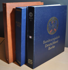 Germany 1940/1990 - Batch with US and British zone, FRG and Berlin in a Schaubek album, a DAVO album and a stock book