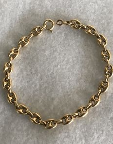 Gold bracelet with mariner links, 11.45 g