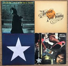 "Neil Young: lot of 4 lp's  ""After the gold rush"" ""Harvest"" ""Hawks and doves"" ""American stars 'n bars"""