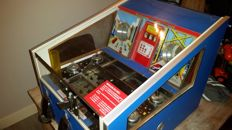 Royal Banker Coin Pusher / Bulldozer from the fairground 1970s/80s, works perfectly with a lot of coins and bonus fruit machine