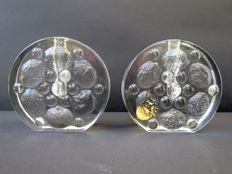 Walther glass - set of solifleur glass objects
