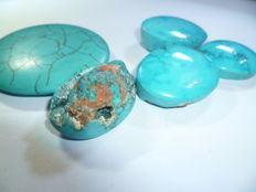 Lot Arizona turquoise Cabochons - 64 g - 320 ct