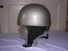 Original Cromwell helmet - with leather bottom - made in England - ca. 1960