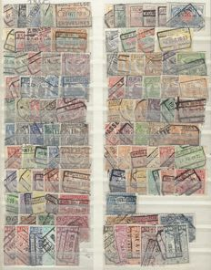 Belgium - Railway stamps OBP nos. TR28 through TR47 and TR58 through TR454, series from the years 1902 to 1980